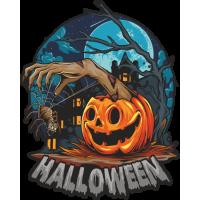 Stickers Halloween Citrouille Araignée