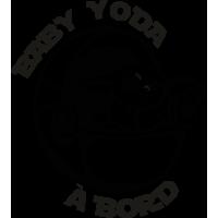 Sticker Bébé Yoda à Bord Baby Yoda