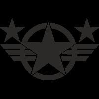 Sticker Etoile US Militaire