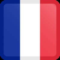 Autocollant Drapeau français bouton carré