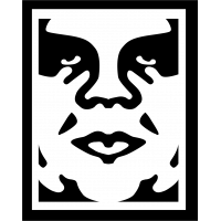 Sticker Obey logo