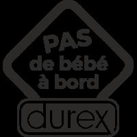 Sticker Pas de bébé à bord Durex