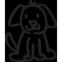 Sticker Famille Chien