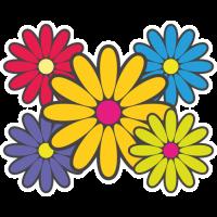 Sticker Fleurs Hippie