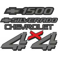 Sticker CHEVROLET SILVERADO 4X4