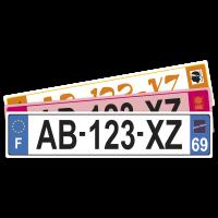 PLAQUE AUTO  45.5x10 cm