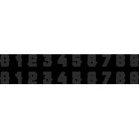 Planche Sticker Chiffres N°4