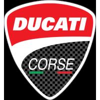 Sticker LOGO DUCATI Corse Carbon
