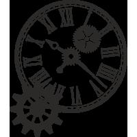 Sticker Horloge Mécanique