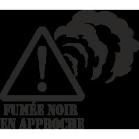 Sticker 4x4 Fumée noir en approche