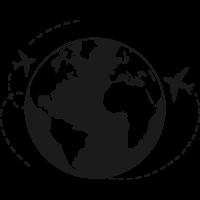 Sticker Monde Mappemonde Globe Avion
