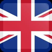 Autocollant Drapeau Royaume-Uni carré bouton
