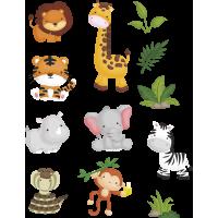Kit autocollants Animaux de la Jungle