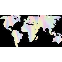 Sticker Monde Mappemonde Globe Pastel