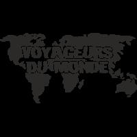 Sticker Monde Mappemonde Voyageurs