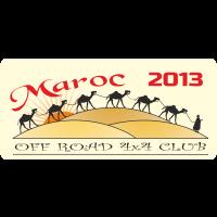Autocollant 4x4 Off Road Maroc 2013