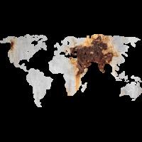 Sticker Monde Mappemonde Globe Rouille 2