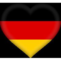 Autocollant Drapeau allemand coeur