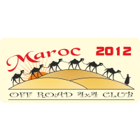 Autocollant Off Road 4x4 Maroc 2012