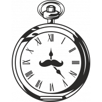 Sticker Horloge Vintage 3