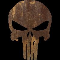 Sticker Punisher Rouille 2