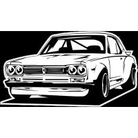Sticker NISSAN Skyline car