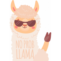 Sticker No Prob Llama 3