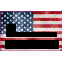 Sticker CB USA - Skin pour Carte Bancaire
