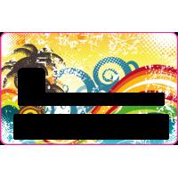 Sticker CB Abstrait - Skin pour Carte Bancaire 7