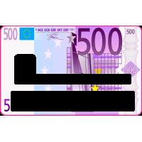 Sticker CB 500 Euros - Skin pour Carte Bancaire