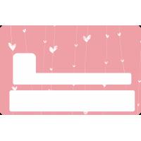 Sticker Cb Coeur - Skin Pour Carte Bancaire