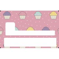 Sticker Cb Cup Cake - Skin Pour Carte Bancaire