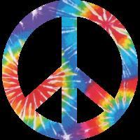 Sticker Peace and Love Tie Dye