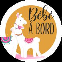 Sticker Bébé à Bord Lama