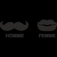Sticker Homme Femme Toilette 2