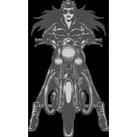 Autocollant Moto Biker Femme