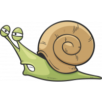 Autocollant Enfant Escargot