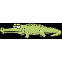 Autocollant Enfant Crocodile