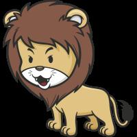 Autocollant Enfant Lion
