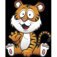 Autocollant Enfant Tigre Coucou