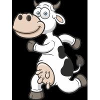 Autocollant Enfant Vache