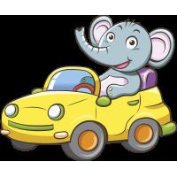 Autocollant Enfant Elephant Voiture