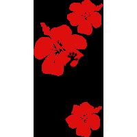 Autocollant Salamandre Fleurs