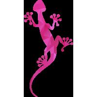 Autocollant Salamandre Rose 3