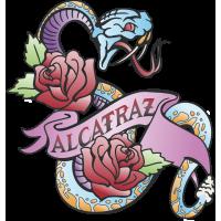 Autocollant Vintage Alcatraz Serpent