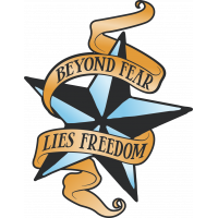 Autocollant Vintage Beyond Fear Lies Freedom