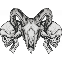 Autocollant Crâne Diable