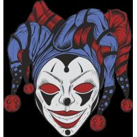 Autocollant Clown Peur 3