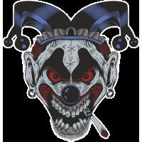 Autocollant Clown Peur 5
