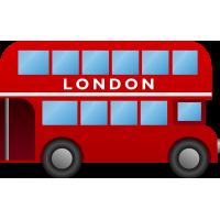 Autocollant Londres Bus